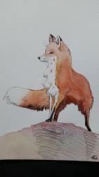 Fox watercolor by misselo83