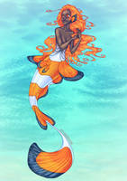 Clownfish Mermaid by PoweredByCokeZero