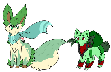 Possible Navi and Colby Redesigns by XRed-moon
