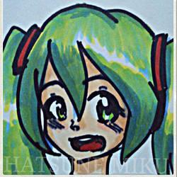 Hatsune Miku (Head shot) by azuritecat