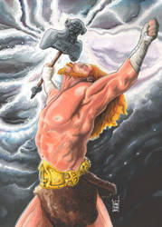 Classic Mythology Thor by idirt