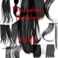 Photoshop Hair Brushes - set 2 by firebug-stock