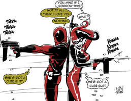 Harley Quinn And Deadpool... a perfect couple by murdermitten370