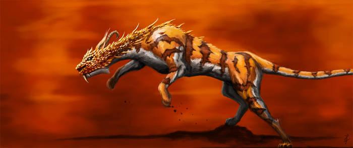 Dragon Feline by Ingraban