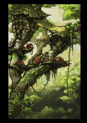 Tree Village by Ingraban