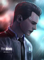 Connor RK800 - The Crime Scene by Owlzey