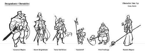 Dragonlance ruff line up by PiratoLoco