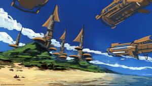 Tropical Island [Sketch] by AntonKurbatov