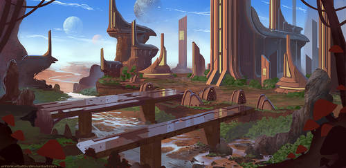 Vaelidian Canyon City by AntonKurbatov