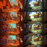 Devil's Lair  and Vaelidian Village Step-by-Steps by AntonKurbatov