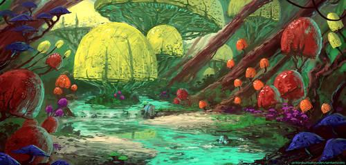 Anya's Garden (+ video process) by AntonKurbatov