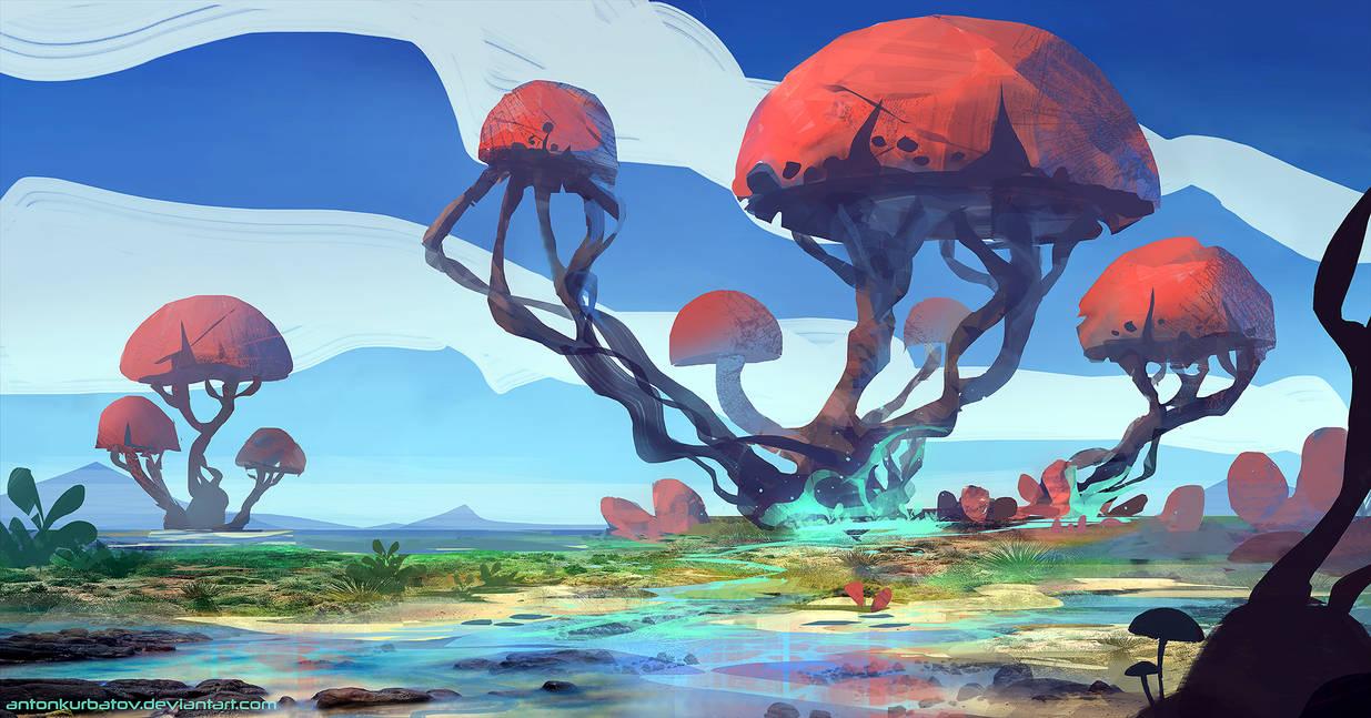 8 Big Shrooms! by AntonKurbatov