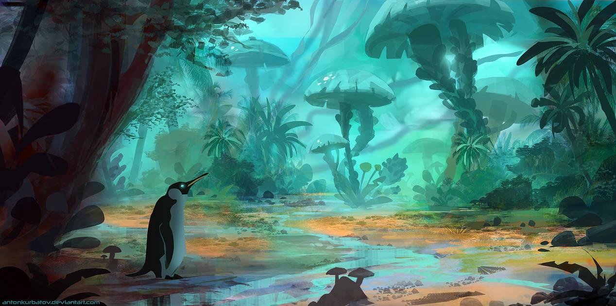 Pecking Mushrooms by AntonKurbatov