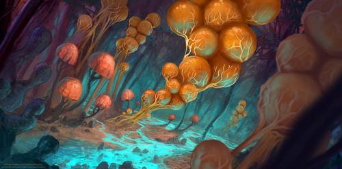 Fungal Lanterns [with DesigningLua] by AntonKurbatov