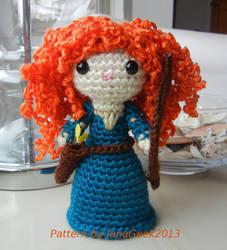 Brave Princess Merida Crochet Doll by janageek