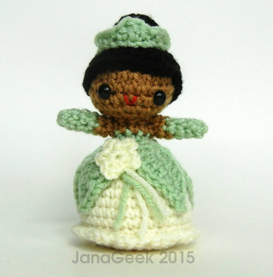 The Frog Princess Tiana Amigurumi Crochet Doll By Janageek On