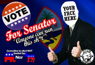 ANYONE for Senator by Guam-Zombie
