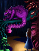 Cheshire Cat Colored by AokiBengal