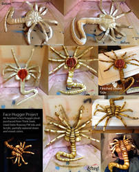 Realistic Face Hugger Plush by AokiBengal