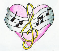 Heart and Music Notes by mypetsally