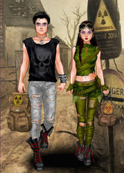 Iggy And Anya My Oldest O.C.s by RebelScumWoman77