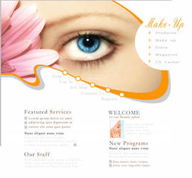 Beauty Salon website by xxsuexx