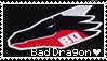 bad dragon stamp [F2U] by DisasterDisorder