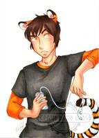 Commission - Tiger boy by Karmada