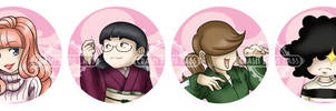 Buttons - Jellyfish Princess (Kuragehime) by Karmada