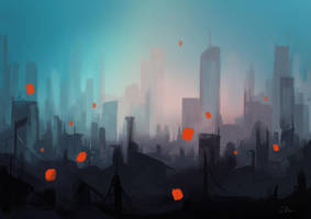 Dreams in the city by Momentho