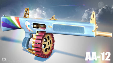 AA12 Rainbow Dash Edition 2 by TheBadPanda2