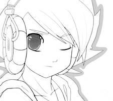 Music Lineart by DestinyBlue