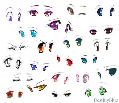 Anime eyes by DestinyBlue