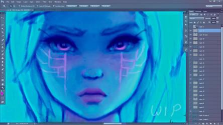 Virtual Butterfly WIP by DestinyBlue