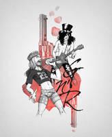 Guns N' Roses - Axl and Slash - Fanart by MB-LittleGreen