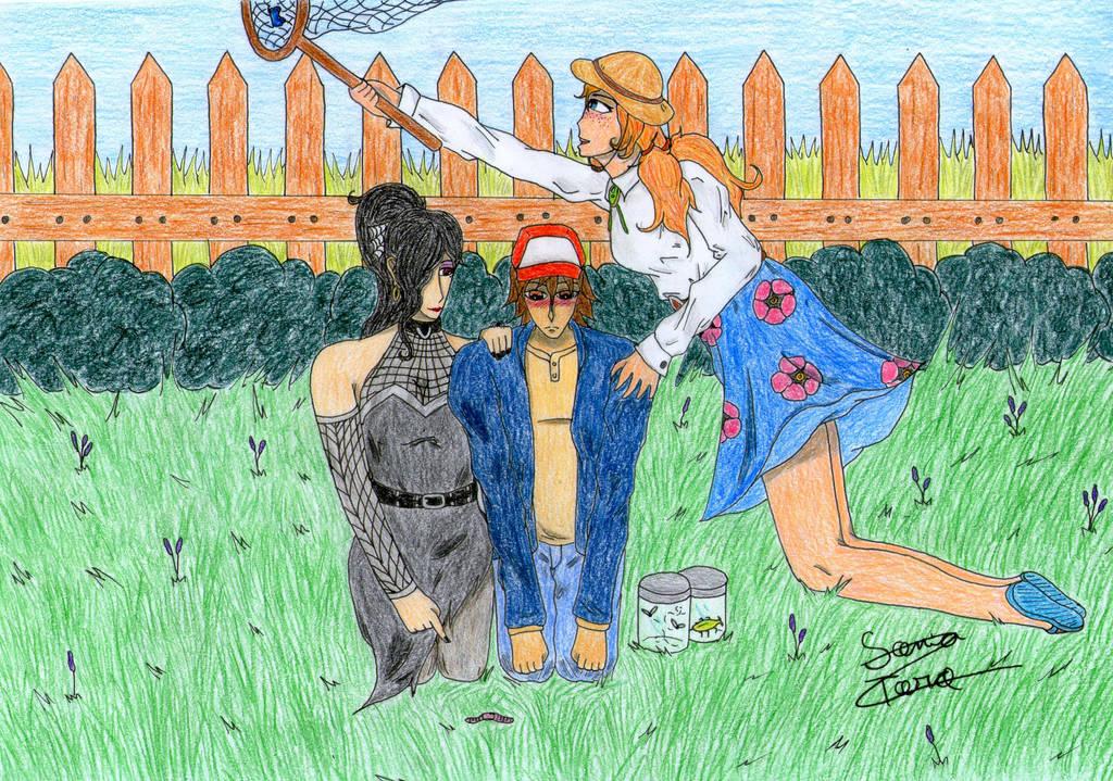 Bug-catching Day (fanart contest) by LonelyShine