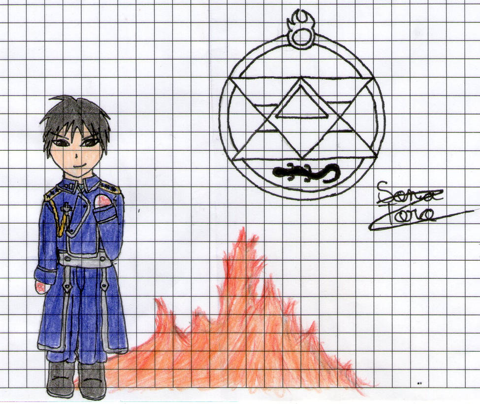 Flame Alchemist (old art) by LonelyShine