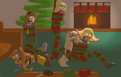 COMM - Enveloping the presents for Christmas by Aramirn123