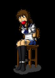 Schoolgirls, boots and ballgags 1 - Midoriko by Aramirn123