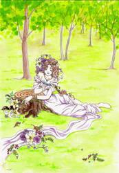 Spring goddess by Yaki-Tanuki