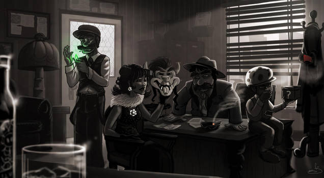 Super Noir'io Bros. by oGuttermoutho