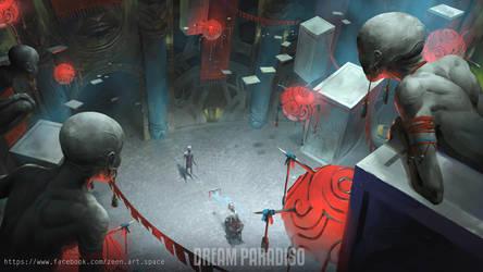 Dream Paradiso environment concept art2 by ZeenChin