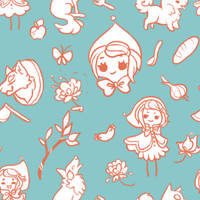 (free) Red Riding Hood Tile by Sharkysaur