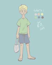 Boy With Bag by FelicityAnnora