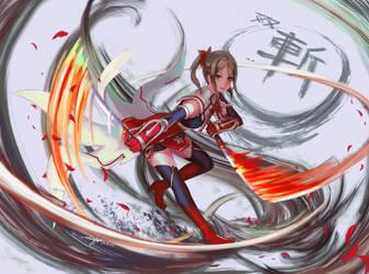 Karin Miyoshi from Yuki Yuna is a Hero by edenfox