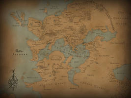 Acherusis World Map by JGellert