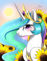 Princess Celestia by beanbunn