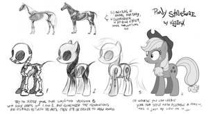 Pony drawing tutorial by Kejzfox