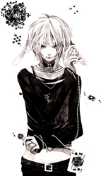 Magic rabbit boy render by AliceUk
