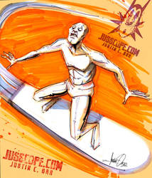 Silver Surfer Sketch by jusscope